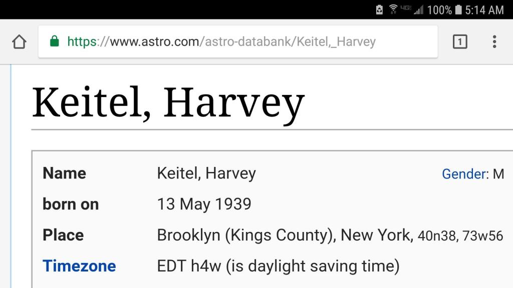 Harvey Keitel is a fabulous American actor from Brooklyn
